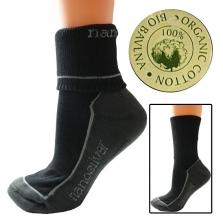Športové ponožky Nanosilver s bio bavlnou - biele, šedé, čierne