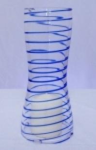 Svícen 22cm modrý
