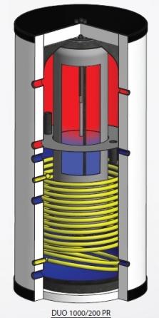 Kombinovaná akumulační nádrž DUO