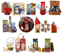 Reklamné vianočné balíčky s dobrotami