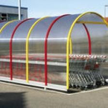 Garáže pro nákupní vozíky