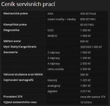 Ceník servisních prací