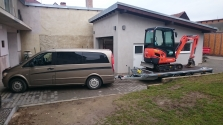 zemní práce minibagrem Kubota