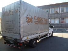 přeprava s hydraulickým čelem 700kg