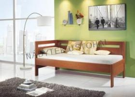 Dyha a lamino postel s úložným prostorem, jednolůžko - BMB deline Dora
