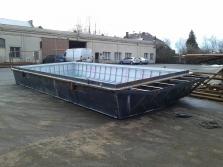Výroba pontonu HAUSBOTY